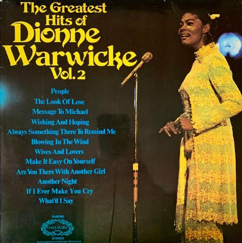 Dionne Warwick ‎- The Greatest Hits Of Dionne Warwick Vol. 2 (LP) (VG-/G++)